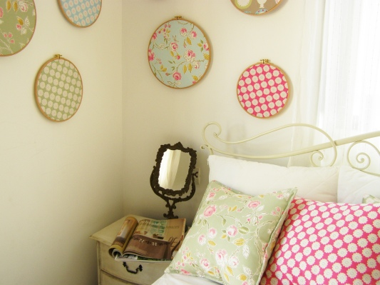 bedroom make over - only with textile